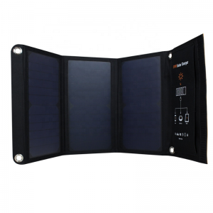 Solar-E 21W PET Sunpower Foldable Solar Charger - 2 x USB (3.5A) | SkyBright Solar
