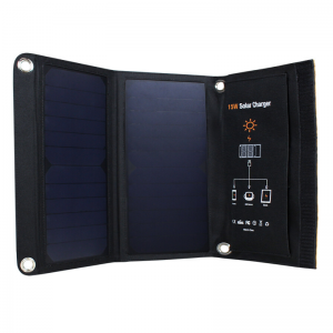 Solar-E 15W PET Sunpower Foldable Solar Charger - 2 x USB (2.5A) | SkyBright Solar