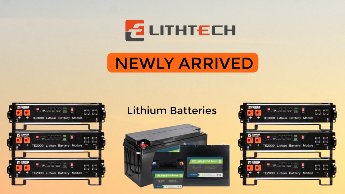 Newly Arrived LithTech Lithium Batteries | SkyBright Solar