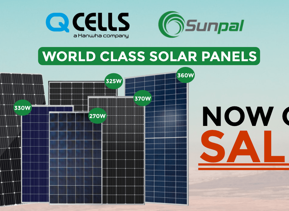 NOW ON SALE! WORLD CLASS SOLAR PANELS